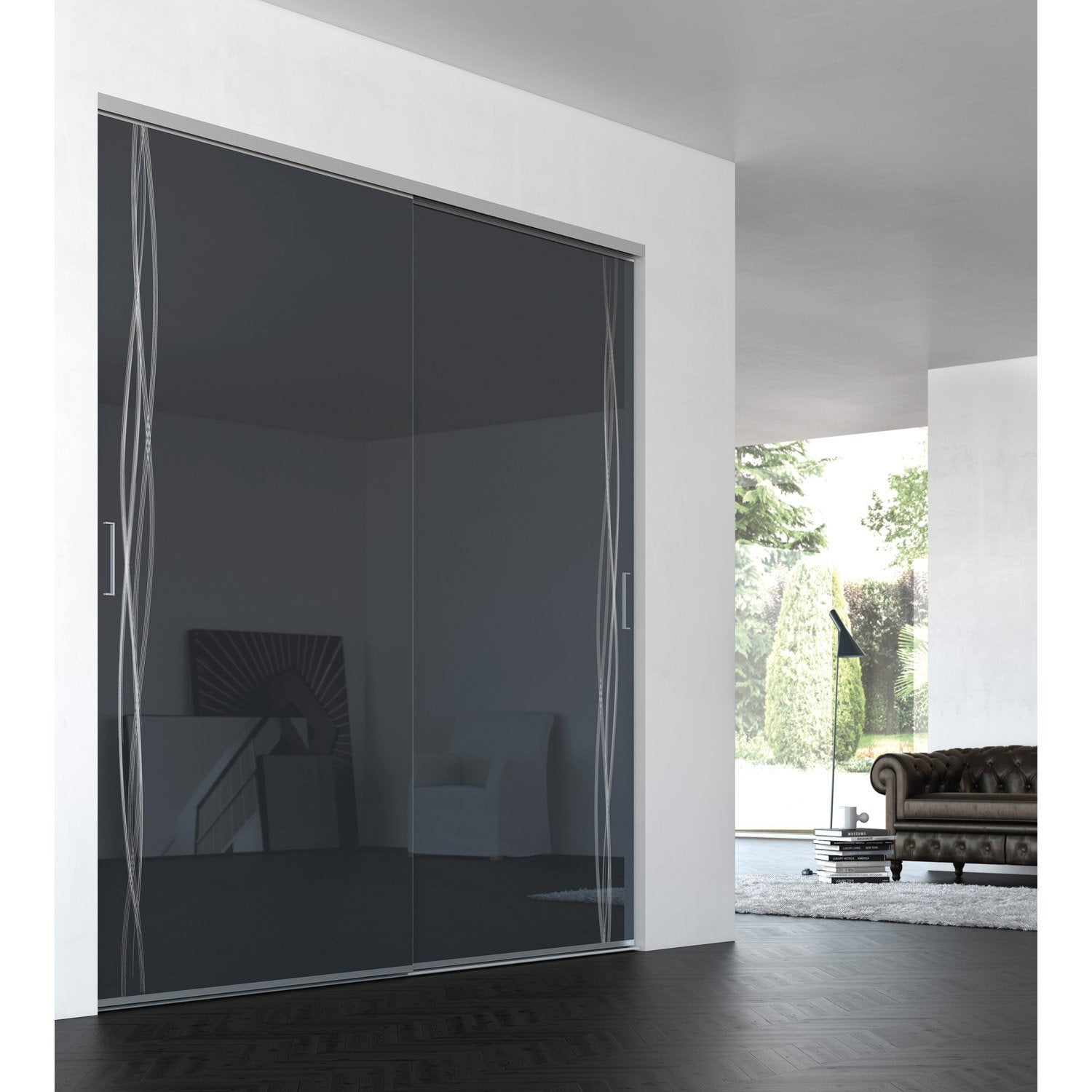 Porte de placard coulissante sur mesure iliko grand large for Porte coulissante 120 cm