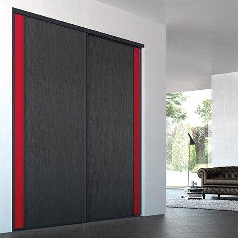 Porte de placard coulissante sur mesure iliko inspir de - Porte coulissante sur mesure leroy merlin ...