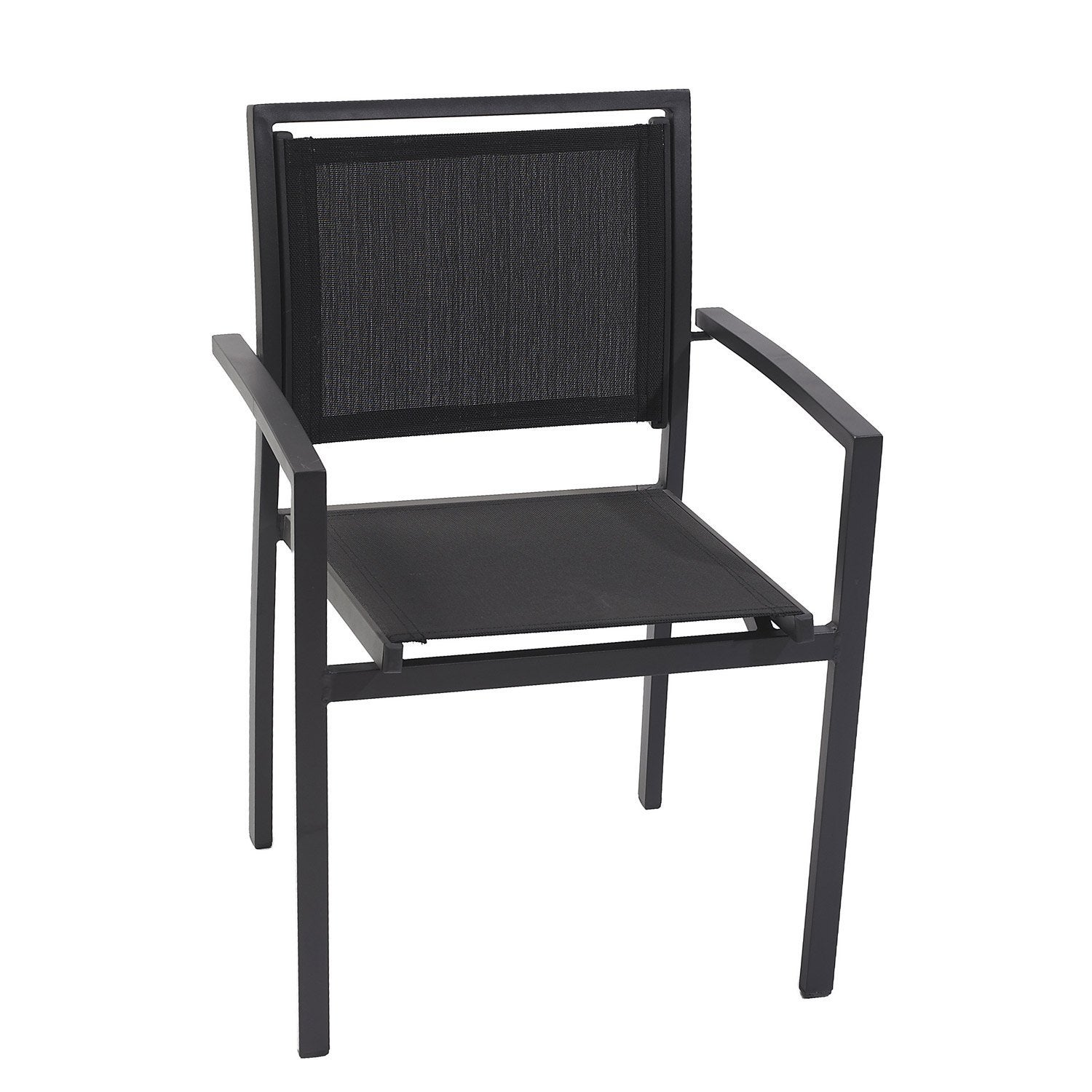 fauteuil de jardin en aluminium noir leroy merlin. Black Bedroom Furniture Sets. Home Design Ideas