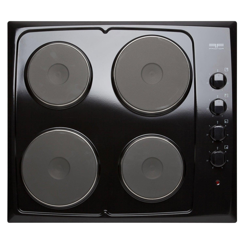 Plaque de cuisson lectrique 4 foyers noir frionor for Prix d une plaque de cuisson