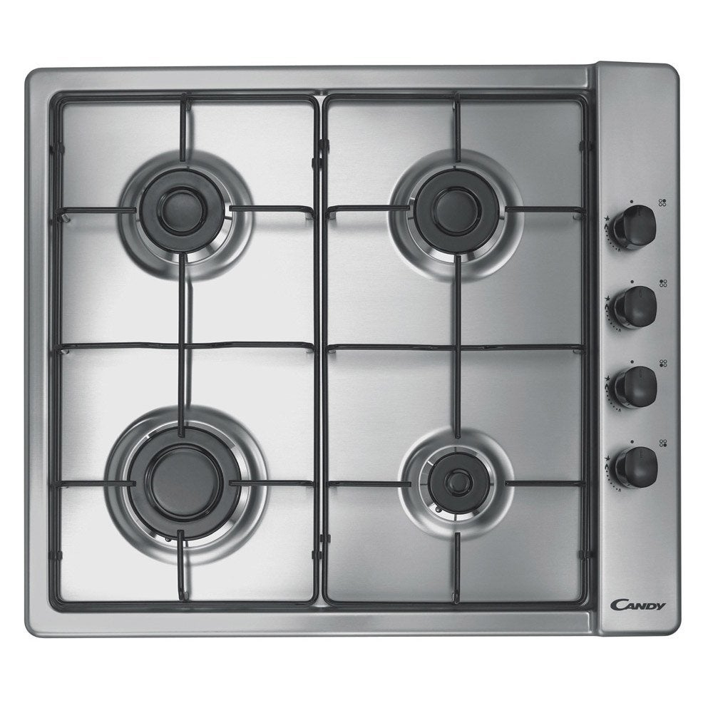 Plaque de cuisson gaz 4 foyers inox candy clg64spx - Plaque de cuisson gaz leroy merlin ...