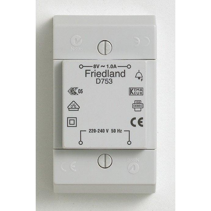 transformateur friedland d753 leroy merlin. Black Bedroom Furniture Sets. Home Design Ideas