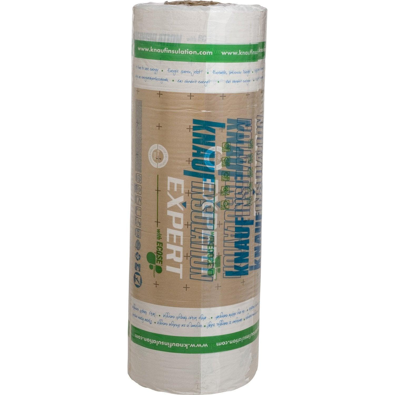 Rouleau de laine de verre 040 kraft knauf insulation r 7 - Laine de verre 200 leroy merlin ...