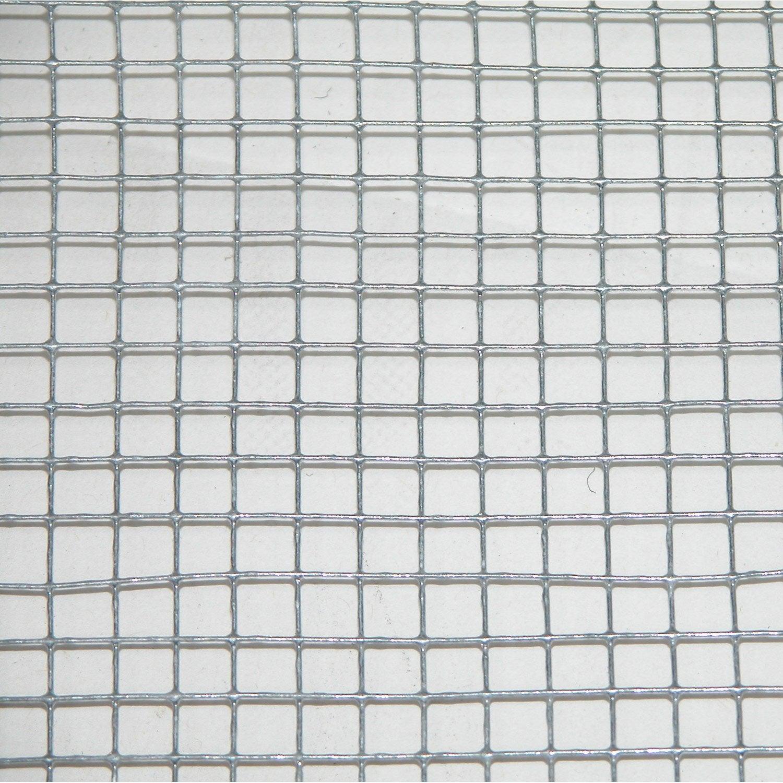 Grillage soud gris h 0 5 x l 3 m maille de h 6 x l 6 4 for Leroy merlin grillage jardin