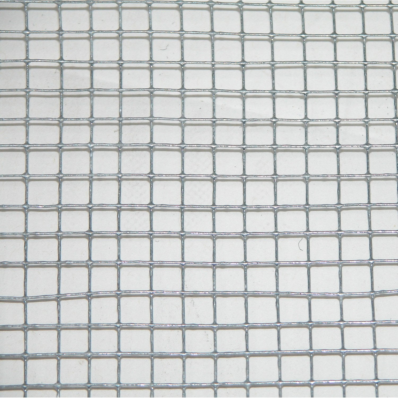 Grillage soud gris h 0 5 x l 3 m maille de h 6 x l 6 4 for Grillage hauteur 2m leroy merlin