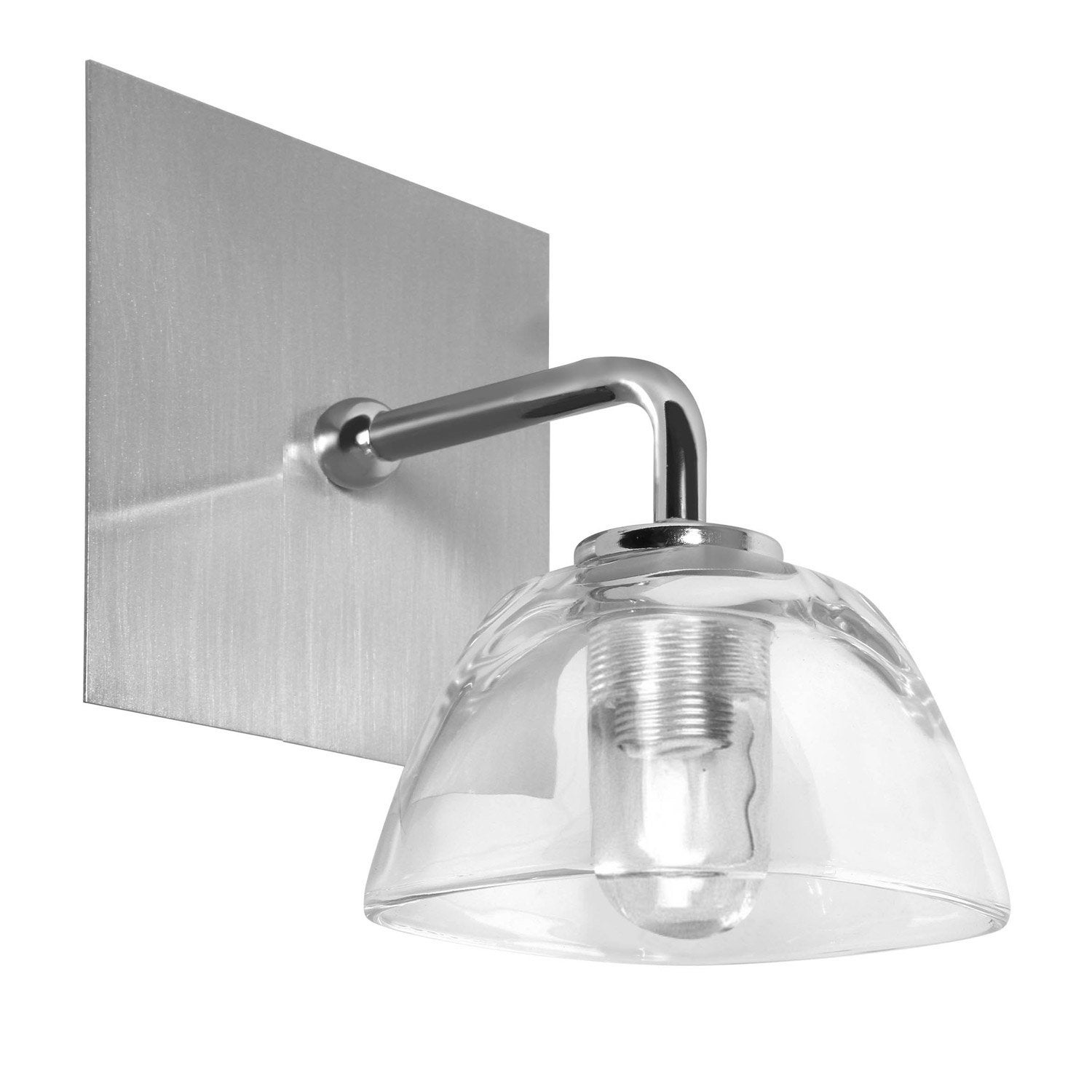 Applique fixer mila halog ne 1 x 28 w g9 chrome - Applique murale salle de bain leroy merlin ...