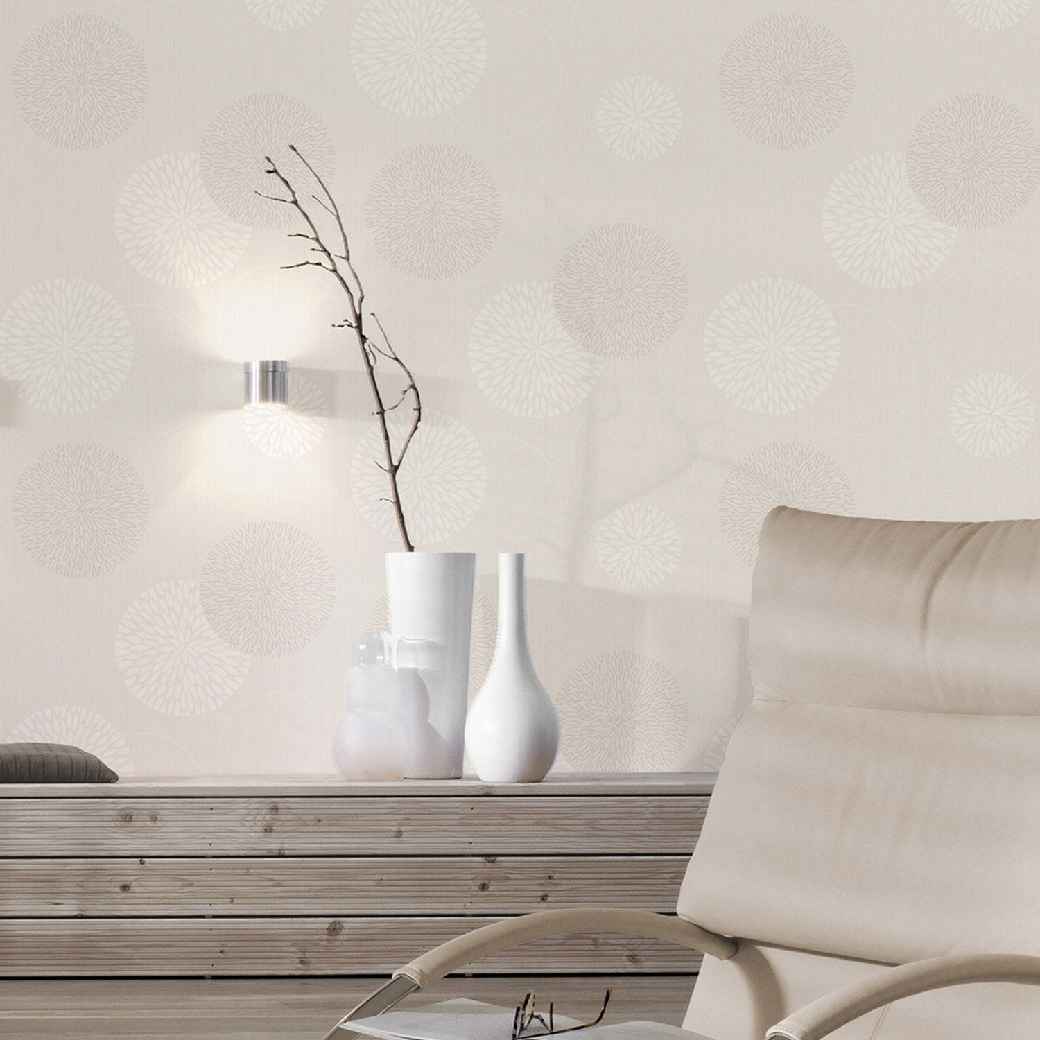 papier peint intiss spot bulles blanc leroy merlin. Black Bedroom Furniture Sets. Home Design Ideas