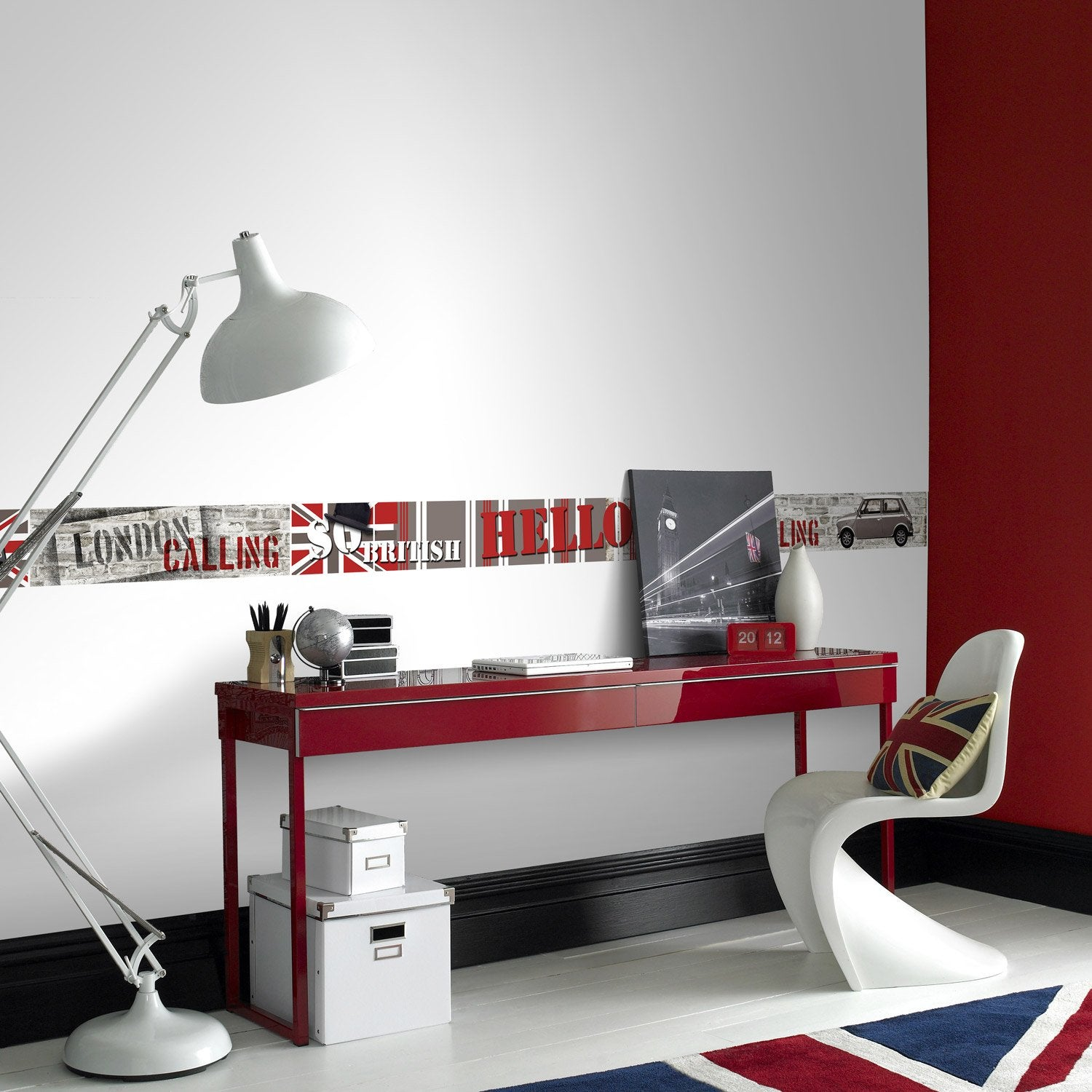 frise vinyle adh sive london travel l 5 m x cm leroy merlin. Black Bedroom Furniture Sets. Home Design Ideas