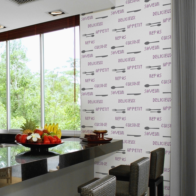 Papier peint papier kitchen violet leroy merlin - Leroy merlin papier bulle ...