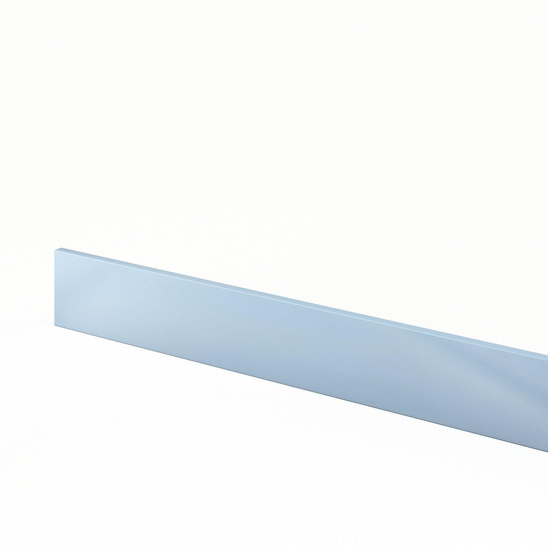 Plinthe de cuisine bleu plinthe crystal l 270 x h 15 cm for Plinthe cuisine 17 cm