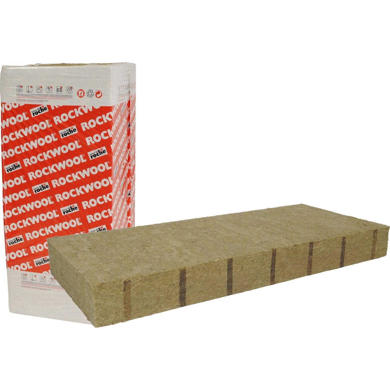Laine de roche rockwool avec bord flexible x 0 6 m for Laine de roche haute densite prix