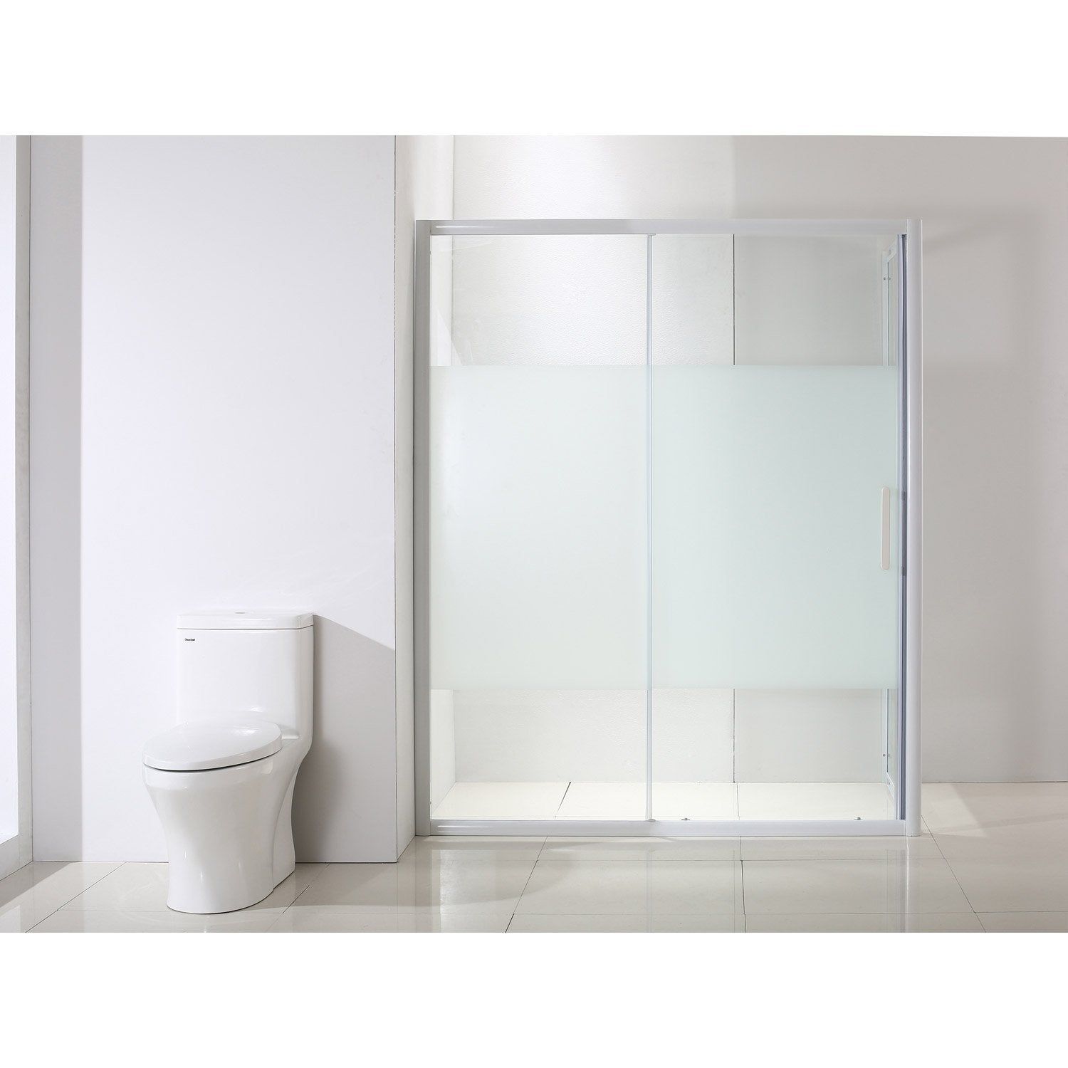 Porte de douche coulissante 140 cm s rigraphi quad for Porte coulissante salon 140 cm