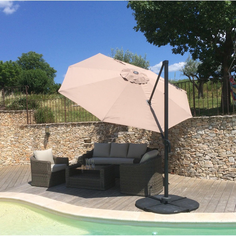 parasol d port flora taupe octogonal x cm. Black Bedroom Furniture Sets. Home Design Ideas
