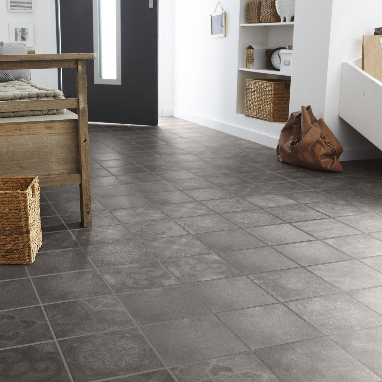Carrelage sol et mur bronze effet ciment Bistro l.20 x L.20 cm | Leroy Merlin