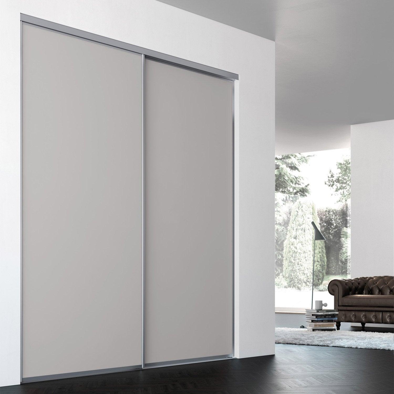 Porte de placard coulissante sur mesure iliko classic de - Baie vitree sur mesure leroy merlin ...