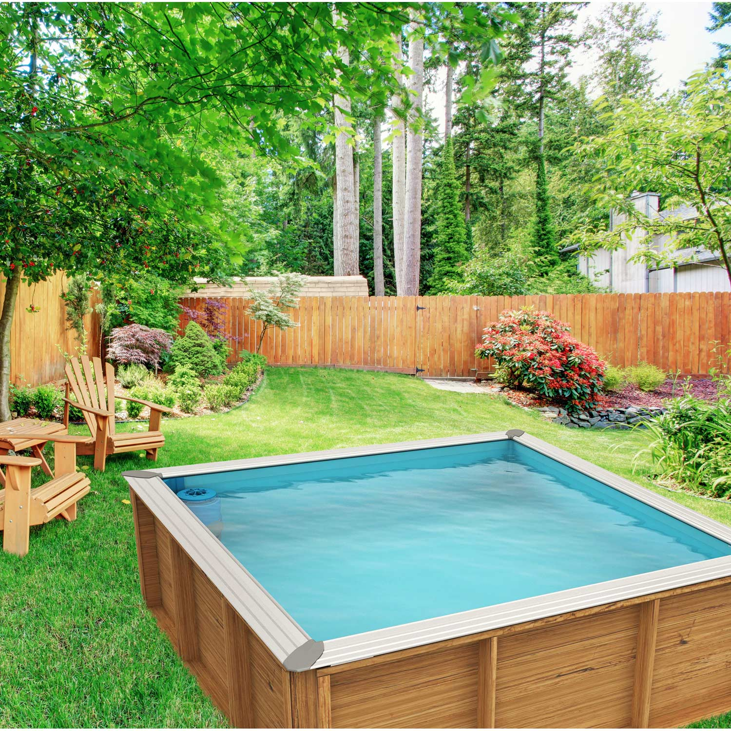 Piscine hors sol bois pistoche l x l x h m for Piscine hors sol imposable