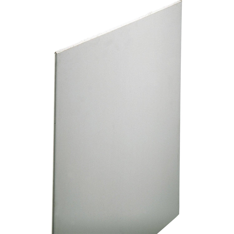 Plaque de pl tre nf 2 6 x 1 2 m ba13 entraxe 60 leroy - Panneau plastique castorama ...