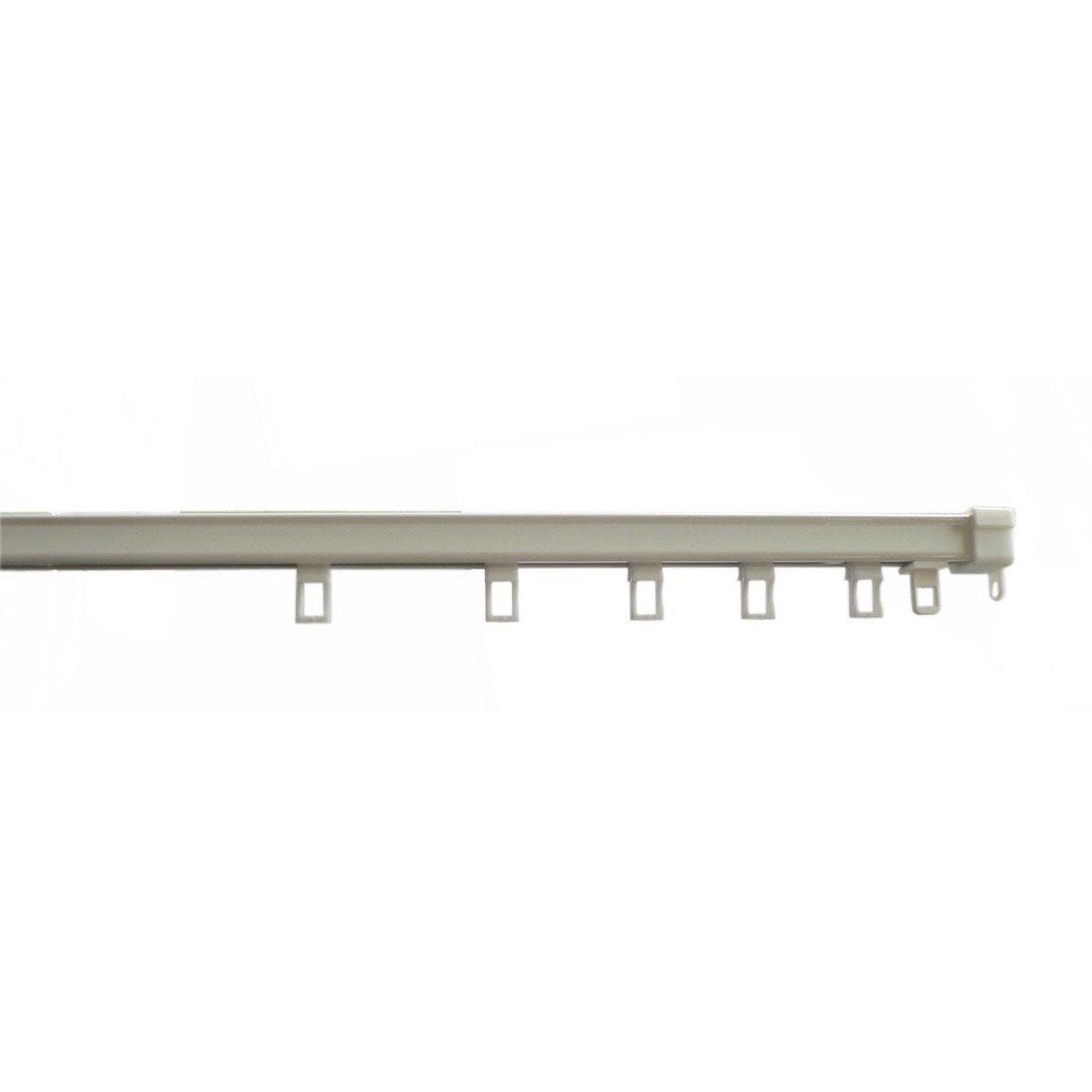 rail acier astuce rail blanc laqu 233 l 200 cm ouverture lat 233 rale ou centrale leroy merlin