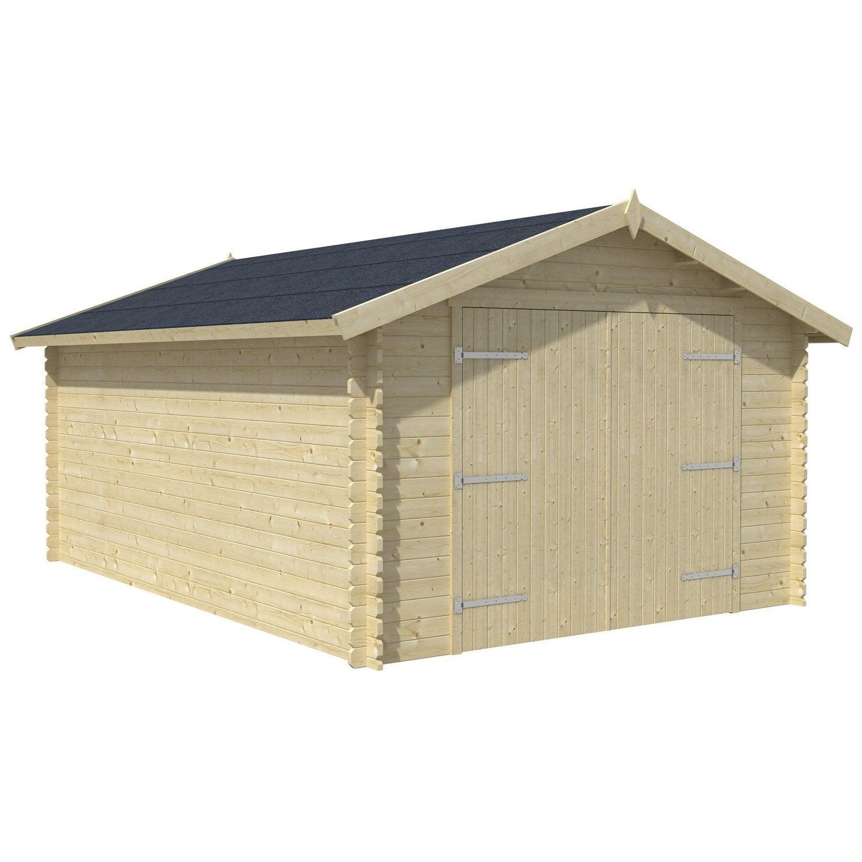 Carport double en bois grancey for Brico cash porte de garage