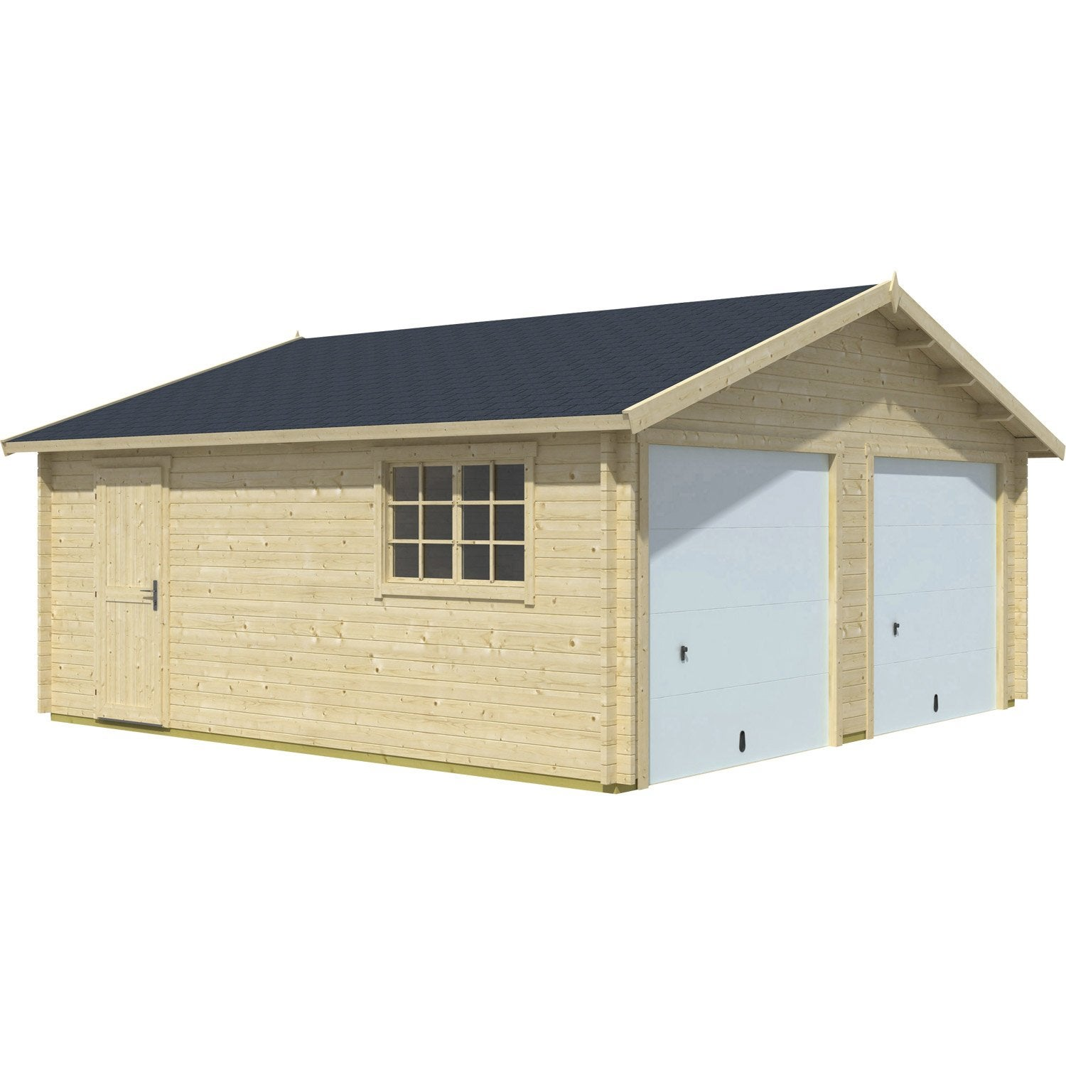 Garage en bois ba kal so garden m leroy merlin - Garage bois en kit leroy merlin ...