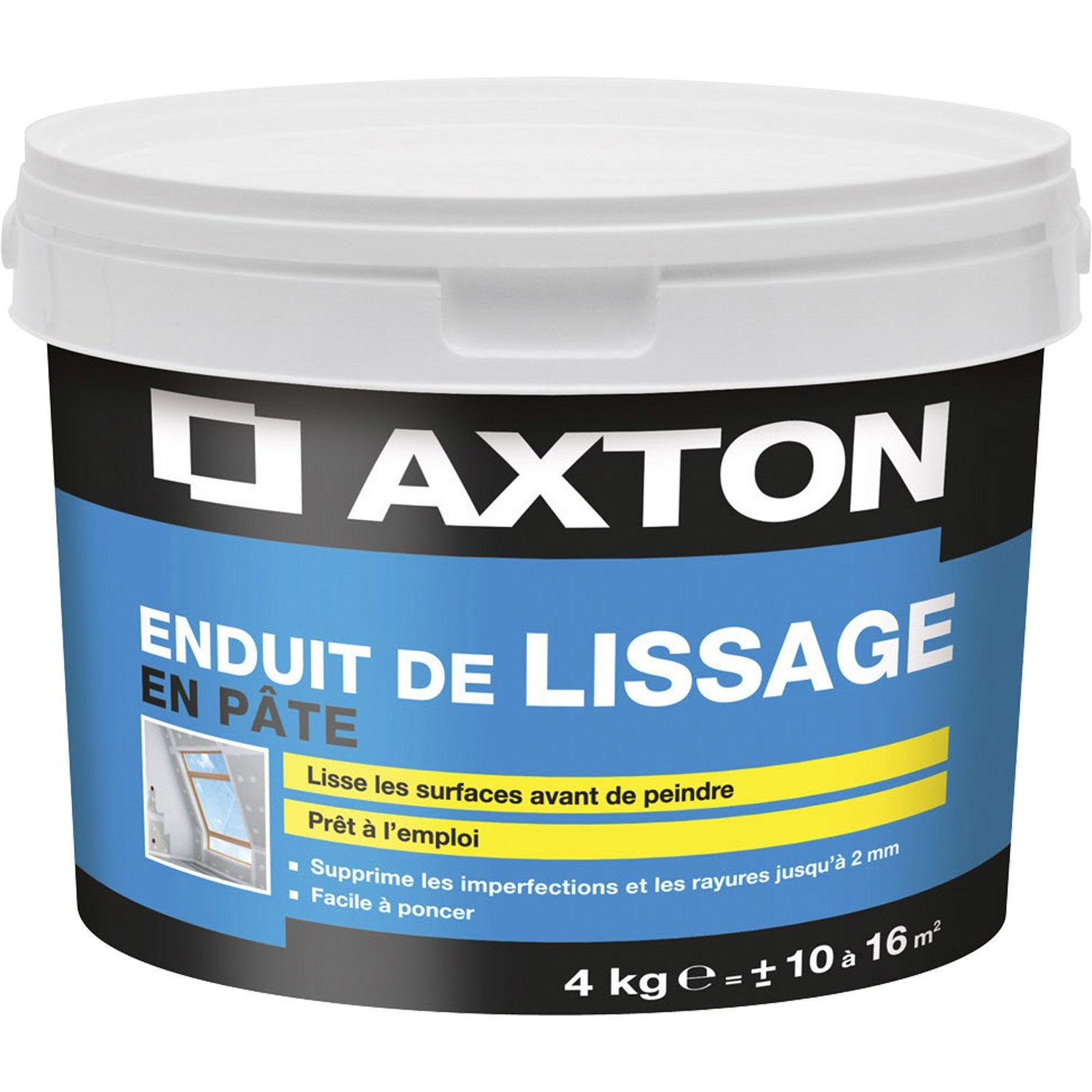 Enduit de lissage axton 4 kg leroy merlin for Video enduit de lissage