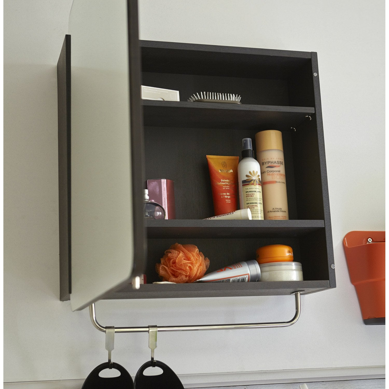armoire de toilette cm noir fairway leroy merlin. Black Bedroom Furniture Sets. Home Design Ideas