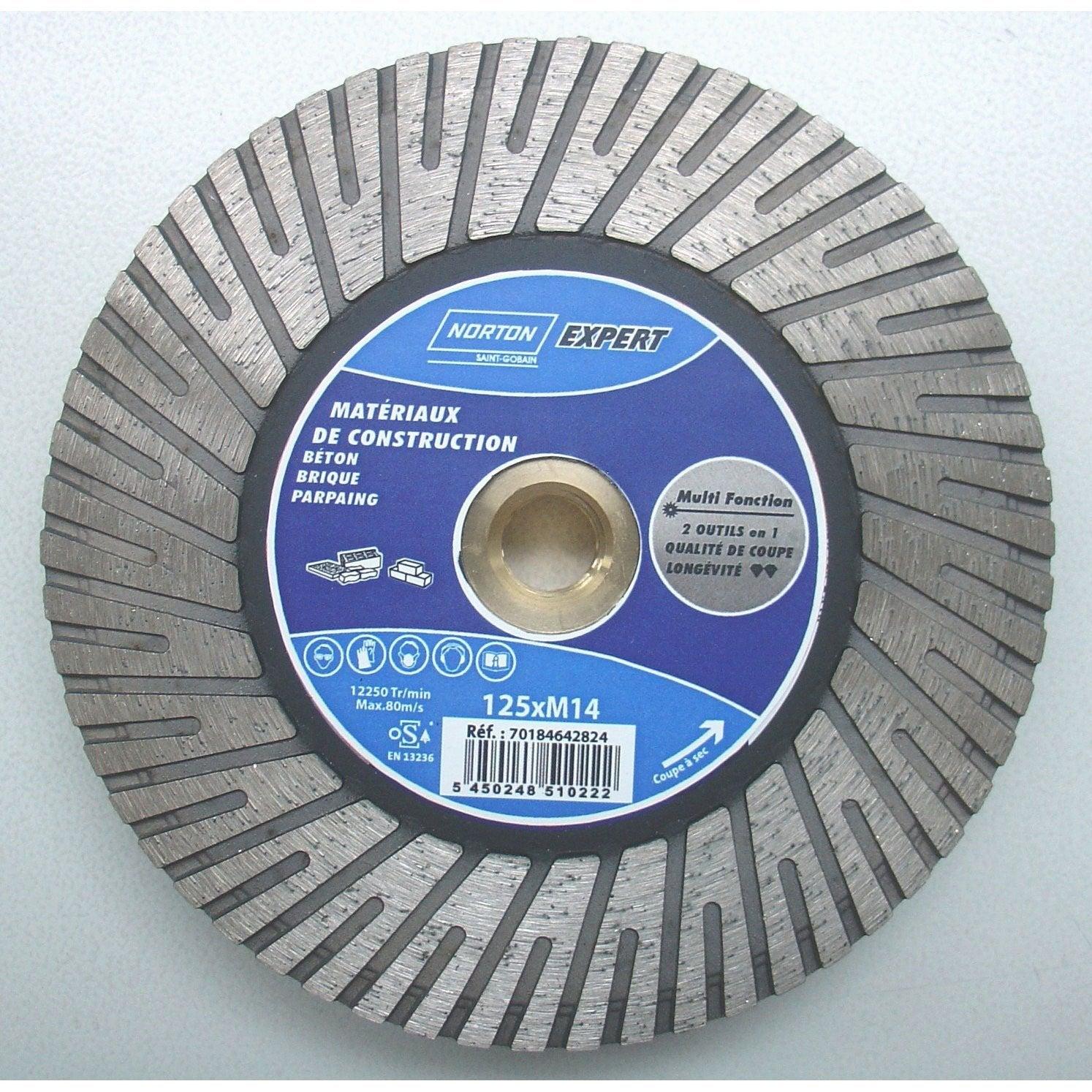 disque diamant pour mat 233 riaux de construction norton diam 125 mm leroy merlin