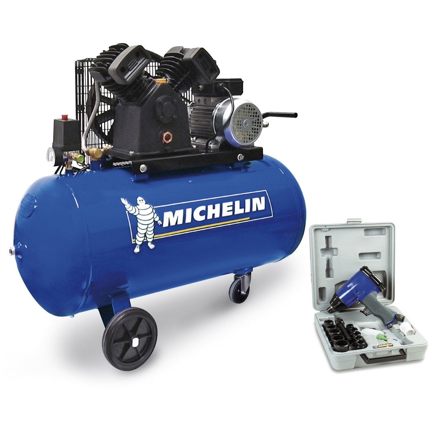 Compresseur d 39 atelier michelin 100 l 3 cv leroy merlin - Compresseur d air leroy merlin ...