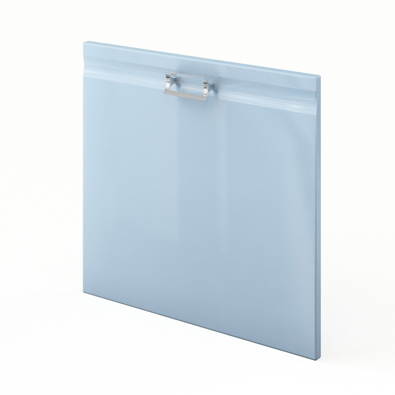 Porte pour lave vaisselle int grable de cuisine bleu for Porte pour lave vaisselle integrable