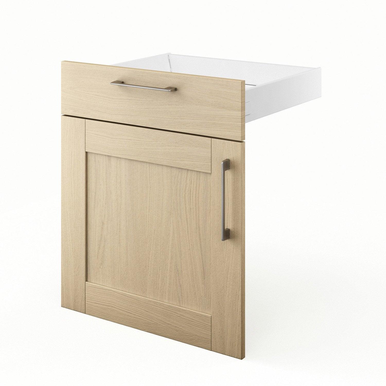 Porte et tiroir de cuisine ch ne clair cyclone x h for Porte 60 x 70