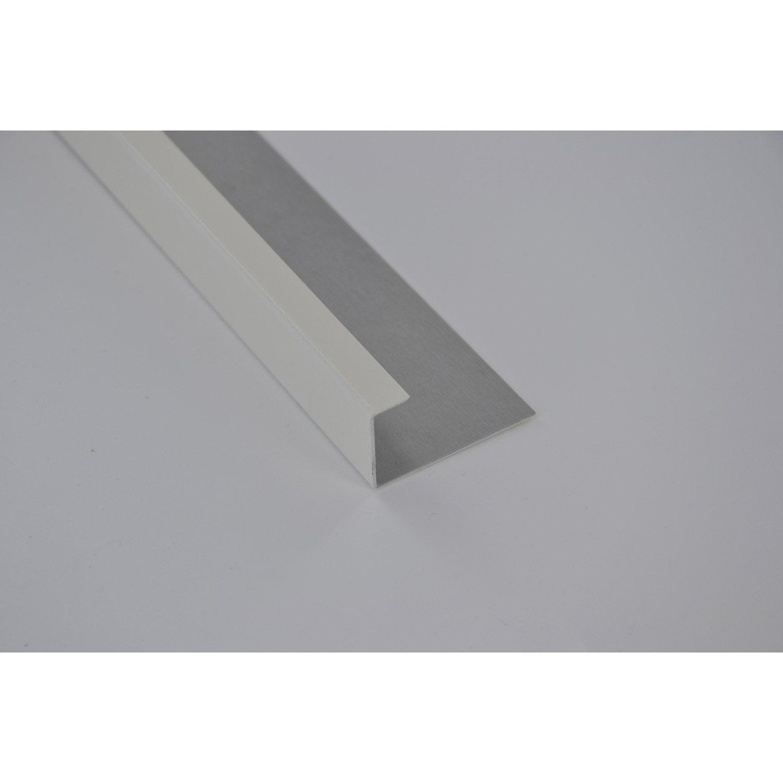 Profil de finition aluminium 24 x 45 mm l 2 m leroy merlin for Profil de finition pvc