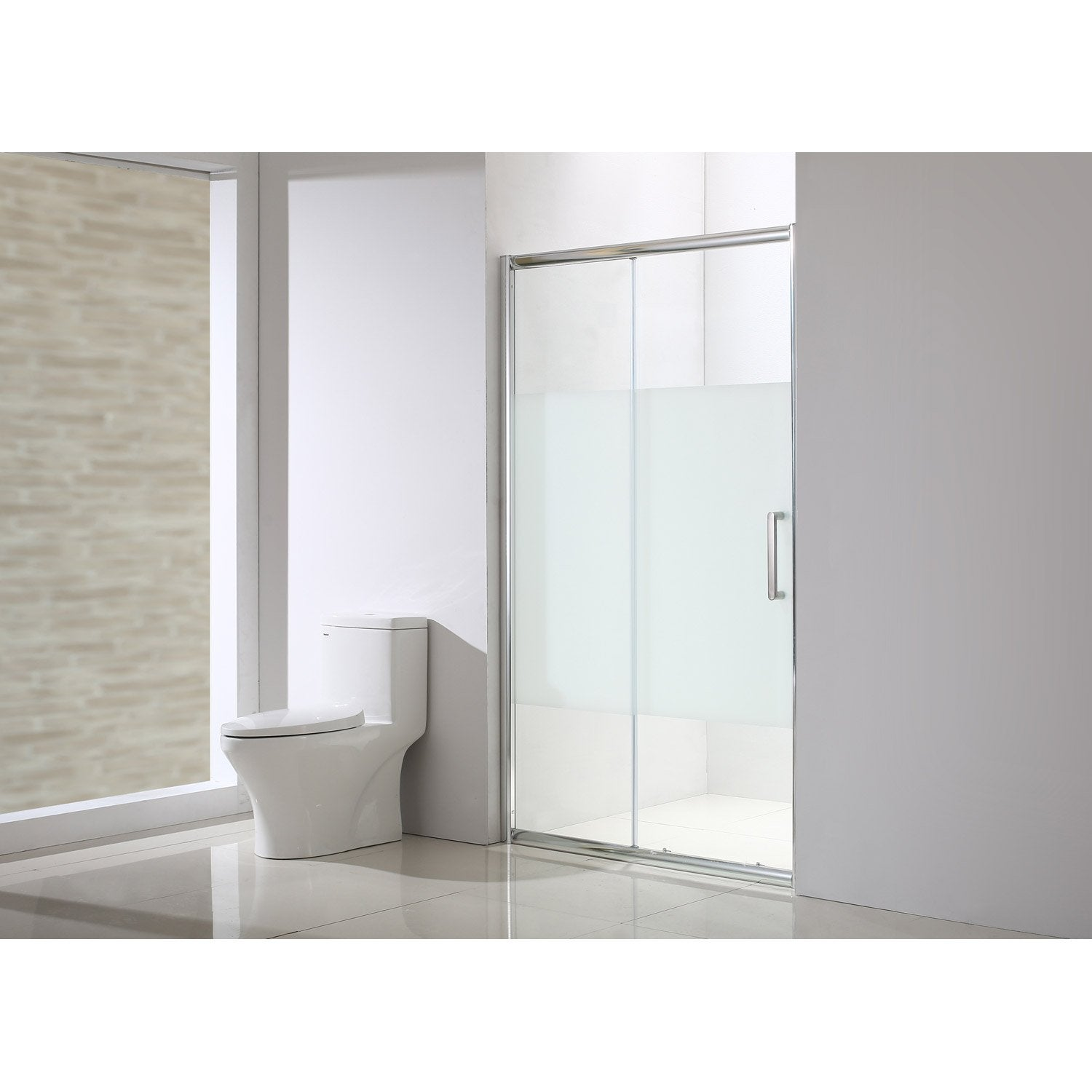 Porte de douche coulissante 140 5 cm s rigraphi quad for Porte coulissante salon 140 cm