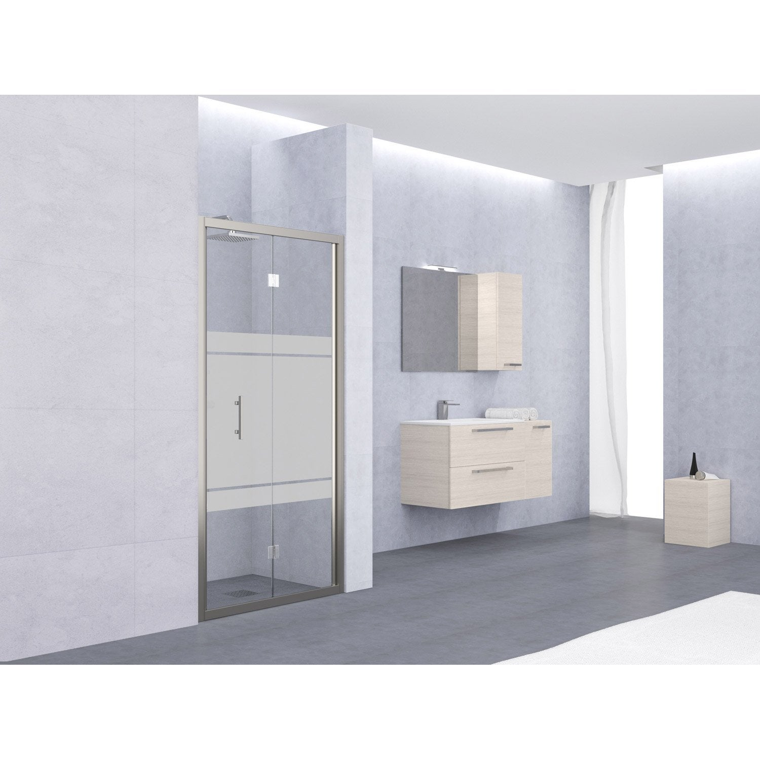 porte de douche pliante 72 78 cm profil chrom elyt. Black Bedroom Furniture Sets. Home Design Ideas