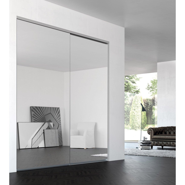 porte de placard coulissante sur mesure iliko grand large de 80 1 100 cm leroy merlin. Black Bedroom Furniture Sets. Home Design Ideas
