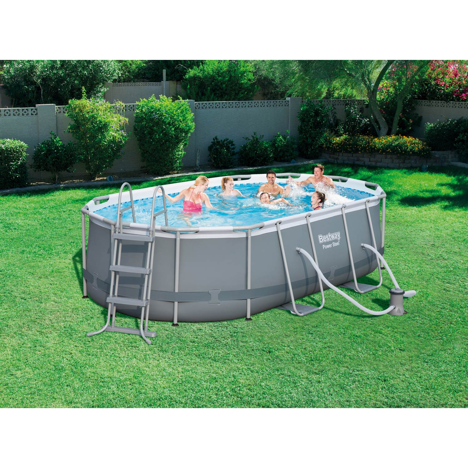 Piscine hors sol autoportante tubulaire bestway l x for Piscine hors sol enterrable
