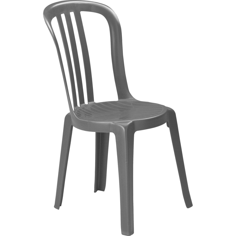 chaise de jardin en r sine miami anthracite leroy merlin. Black Bedroom Furniture Sets. Home Design Ideas
