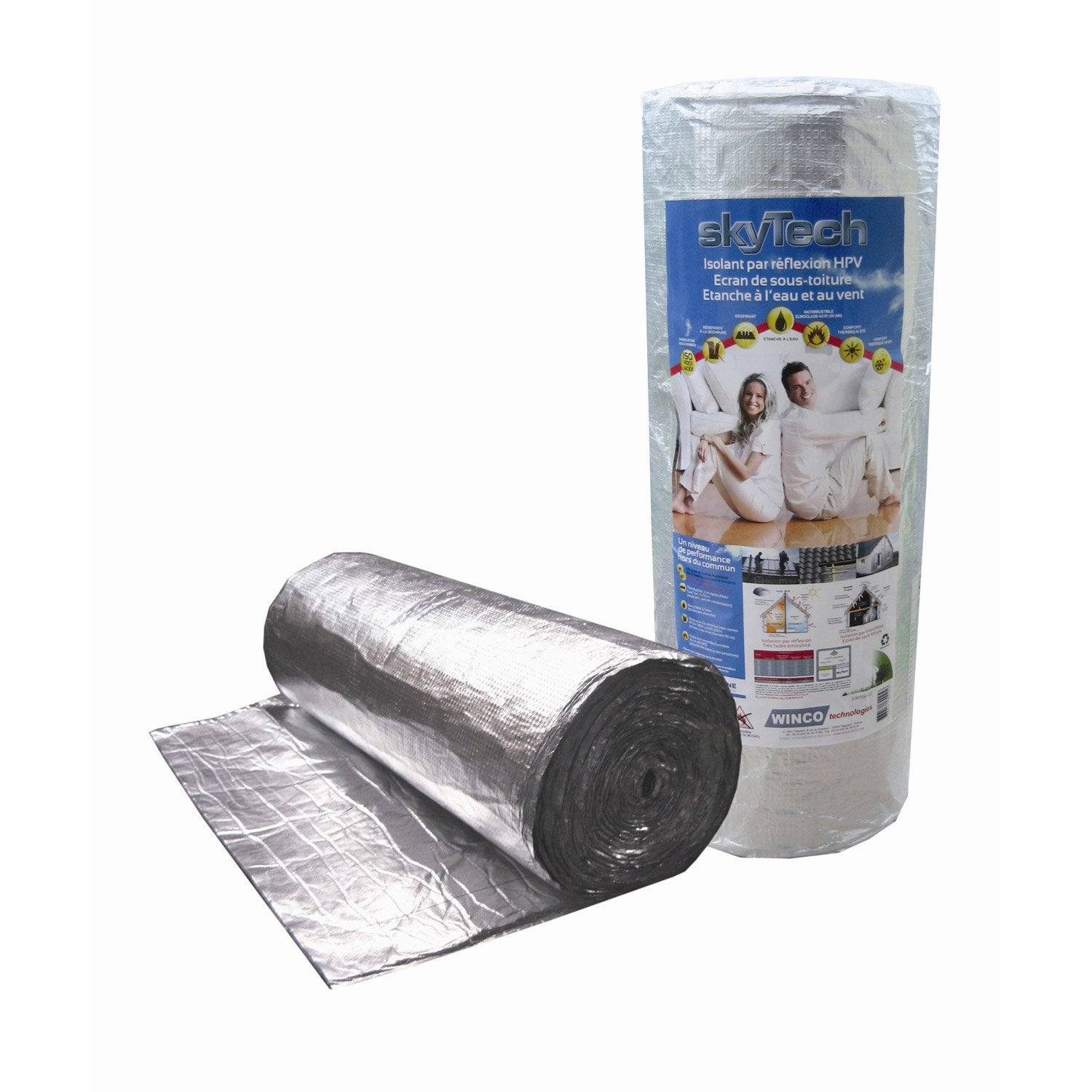 Rouleau skytech winco 18 x 1 m mm leroy merlin for Isolant pour mur exterieur