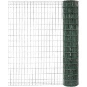 Grillage soudé vert H.2 x L.10 m, maille de H.100 x l.50 mm