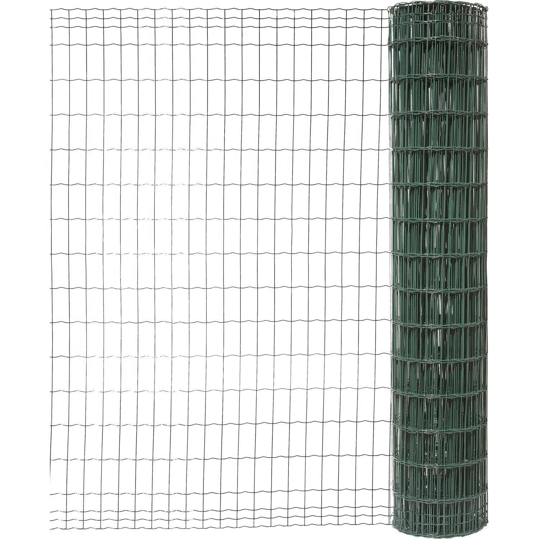 grillage soud 233 vert h 1 5 x l 10 m maille de h 100 x l 50 mm leroy merlin