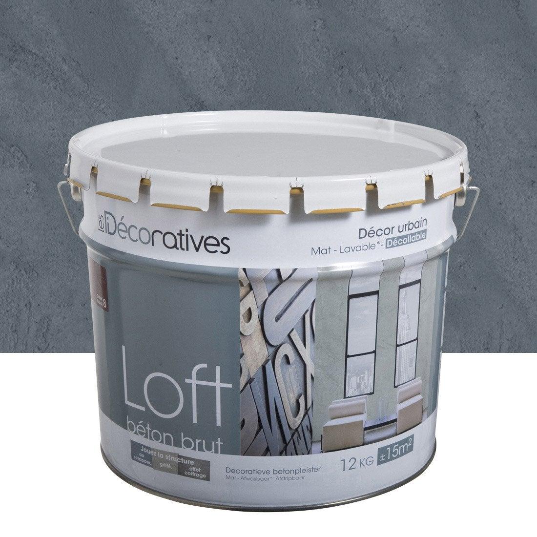 Peinture effet loft b ton brut les decoratives violet for Loft beton cire leroy merlin
