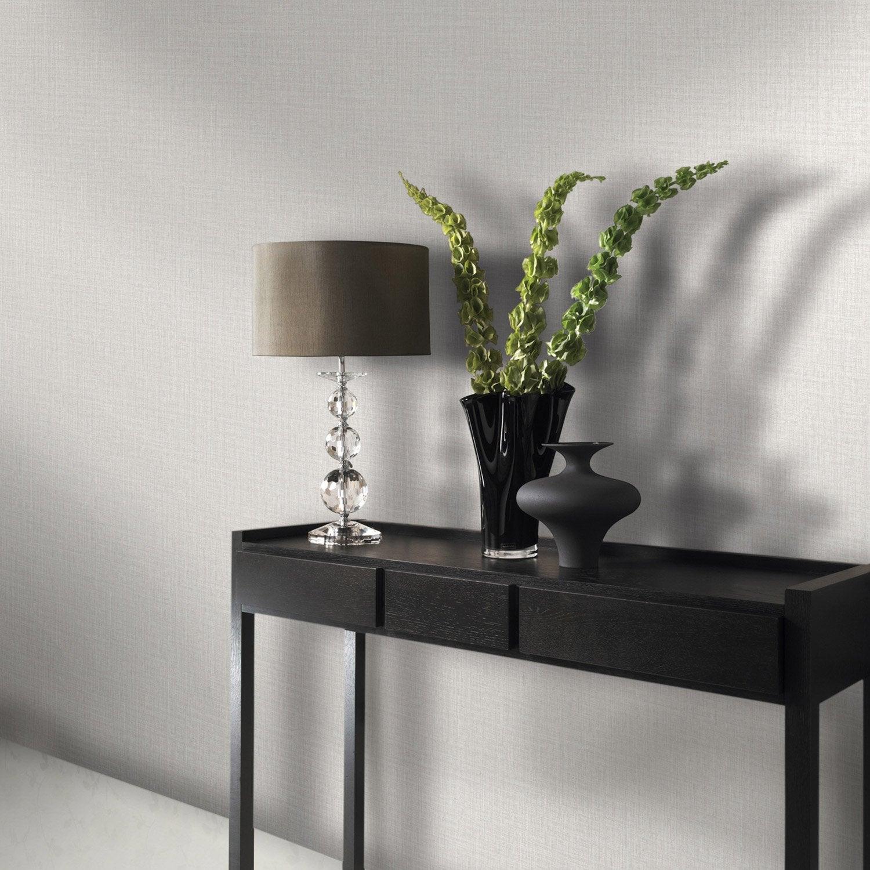 papier peint intiss textile nacr cru leroy merlin. Black Bedroom Furniture Sets. Home Design Ideas