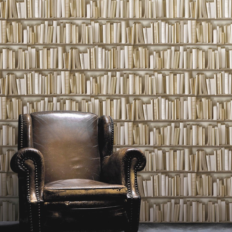 papier peint intiss biblio cru leroy merlin. Black Bedroom Furniture Sets. Home Design Ideas