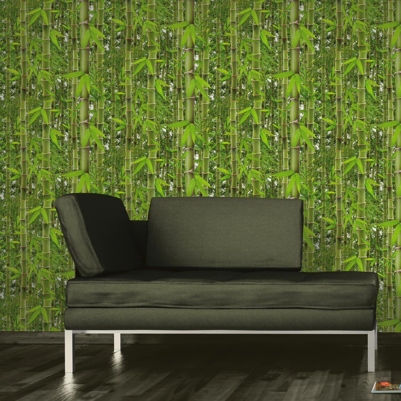 papier peint vinyle expans sur papier bambouseraie vert larg m leroy merlin. Black Bedroom Furniture Sets. Home Design Ideas