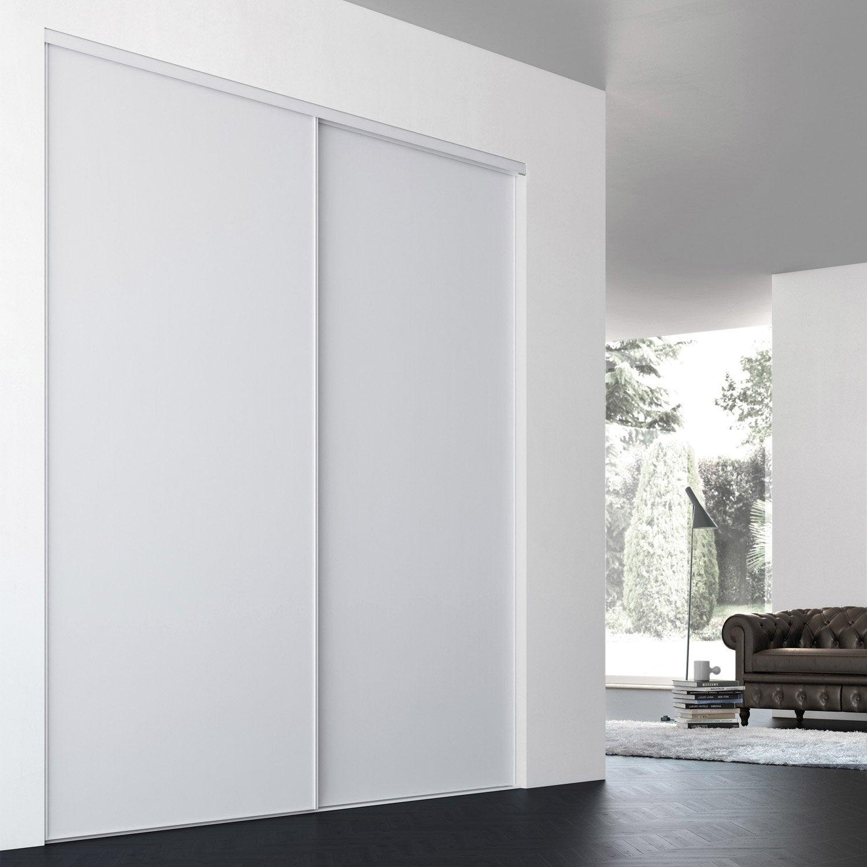 Porte de placard coulissante sur mesure iliko classic de Porte coulissante  60 cm