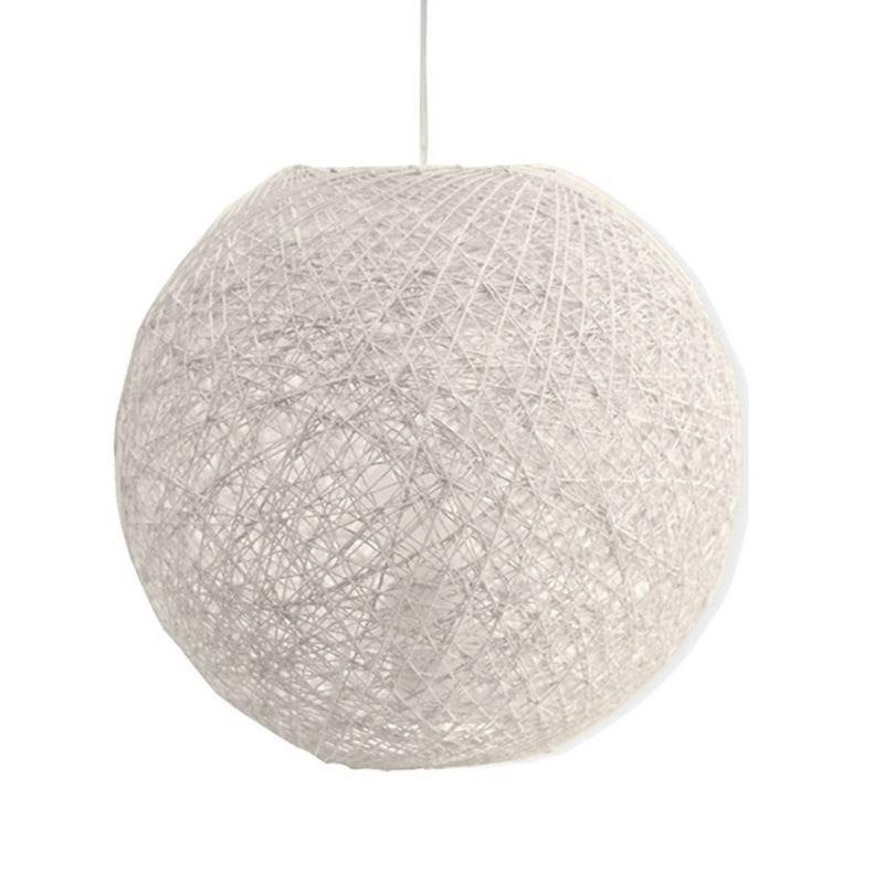 suspension e27 kirou rotin blanc 1 x 40 w seynave leroy. Black Bedroom Furniture Sets. Home Design Ideas