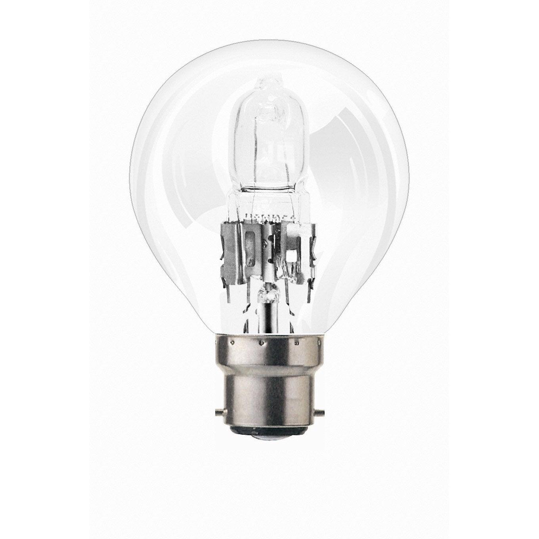 Ampoule Sph Rique Halog Ne 46w Osram B22 Lumi Re Chaude Environ 2700 K Leroy Merlin