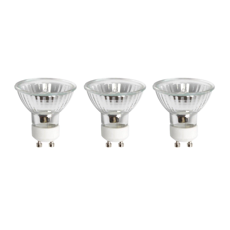 Lot De 3 Ampoules Reflecteurs Halogenes Eco 42w Lexman Gu10 Lumiere