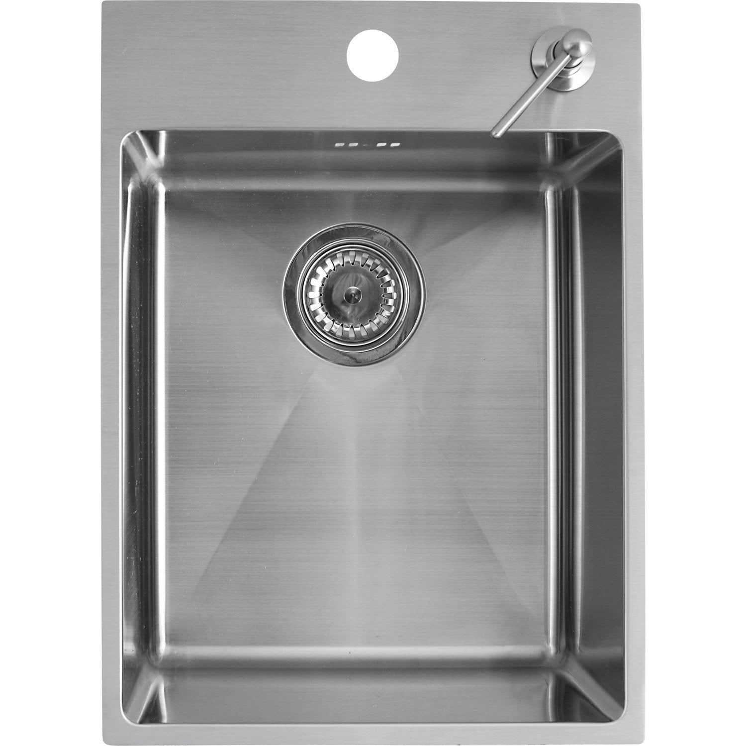 Evier encastrer inox onyx 1 cuve leroy merlin for Evier simple cuve