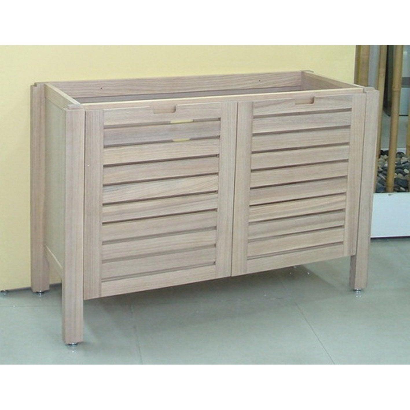 meuble salle de bain bois clair. Black Bedroom Furniture Sets. Home Design Ideas