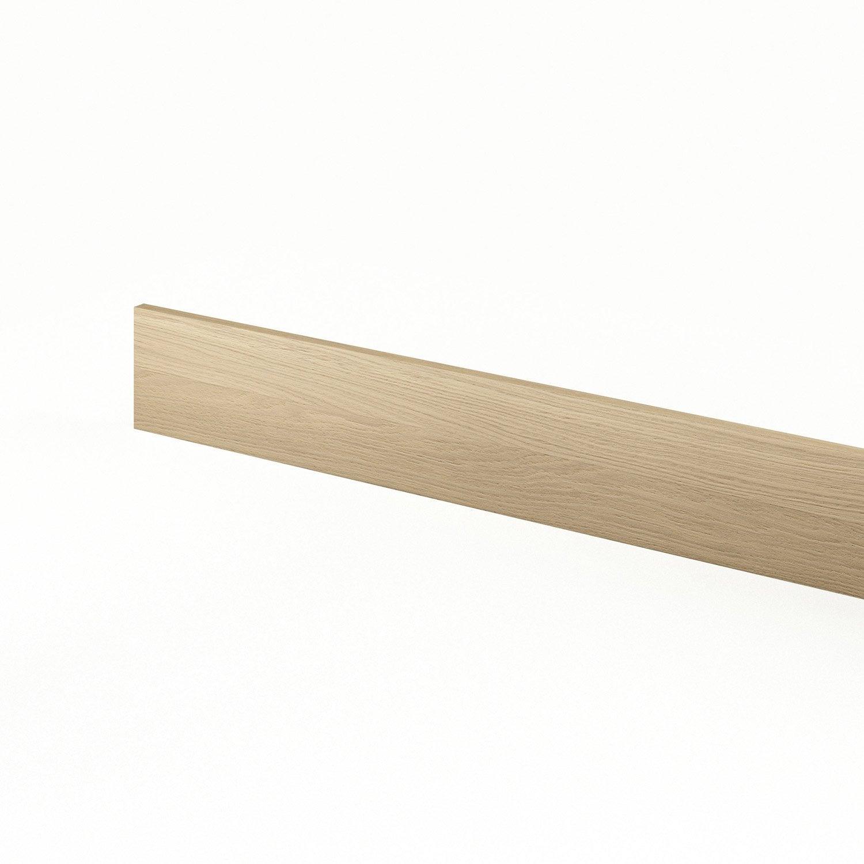 Plinthe de cuisine d cor ch ne clair cyclone l 270 x h 15 for Plinthe cuisine 17 cm
